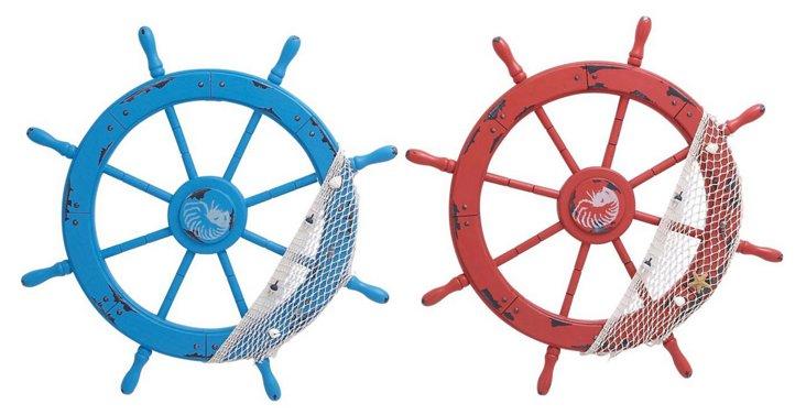 """Asst. of 2 28"""" Ship Wheels"""