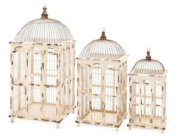 Colonnade Birdcages, Asst. of 3