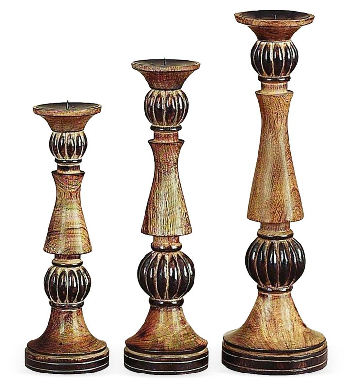 Distressed Candleholders, Asst. of 3