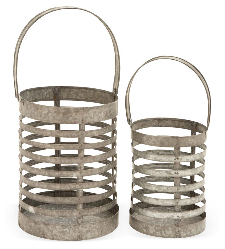 Asst. of 2 Caged Lanterns, Silver