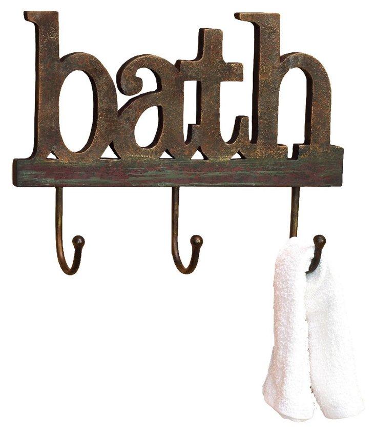 """""""Bath"""" Wall Hook"""