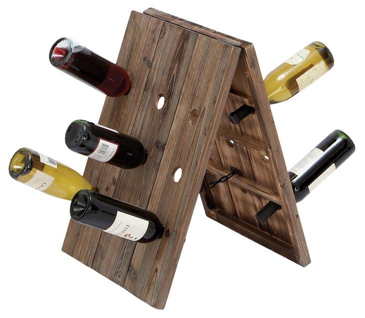 Standing Wooden Wine Holder