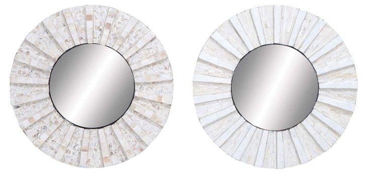 Cream Inlay Mirror