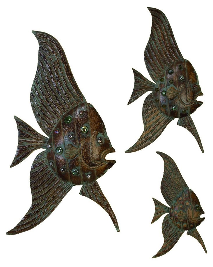 Iron Fish Wall Decor Set
