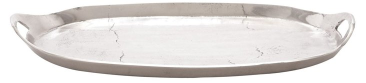 "26"" Oval Tray, Silver"