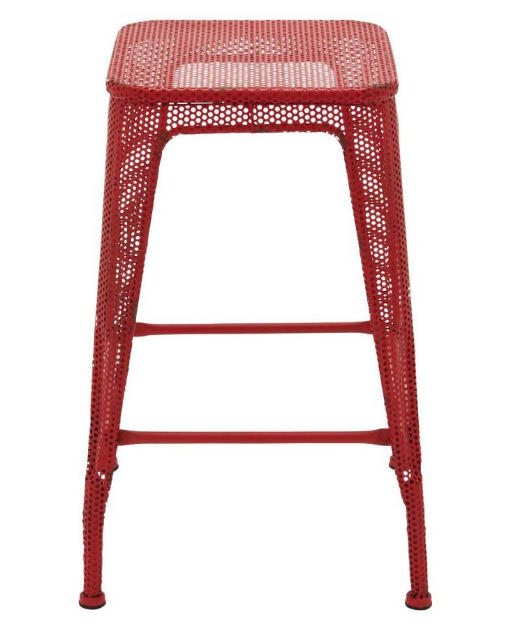 Tucker Metal Stool, Red