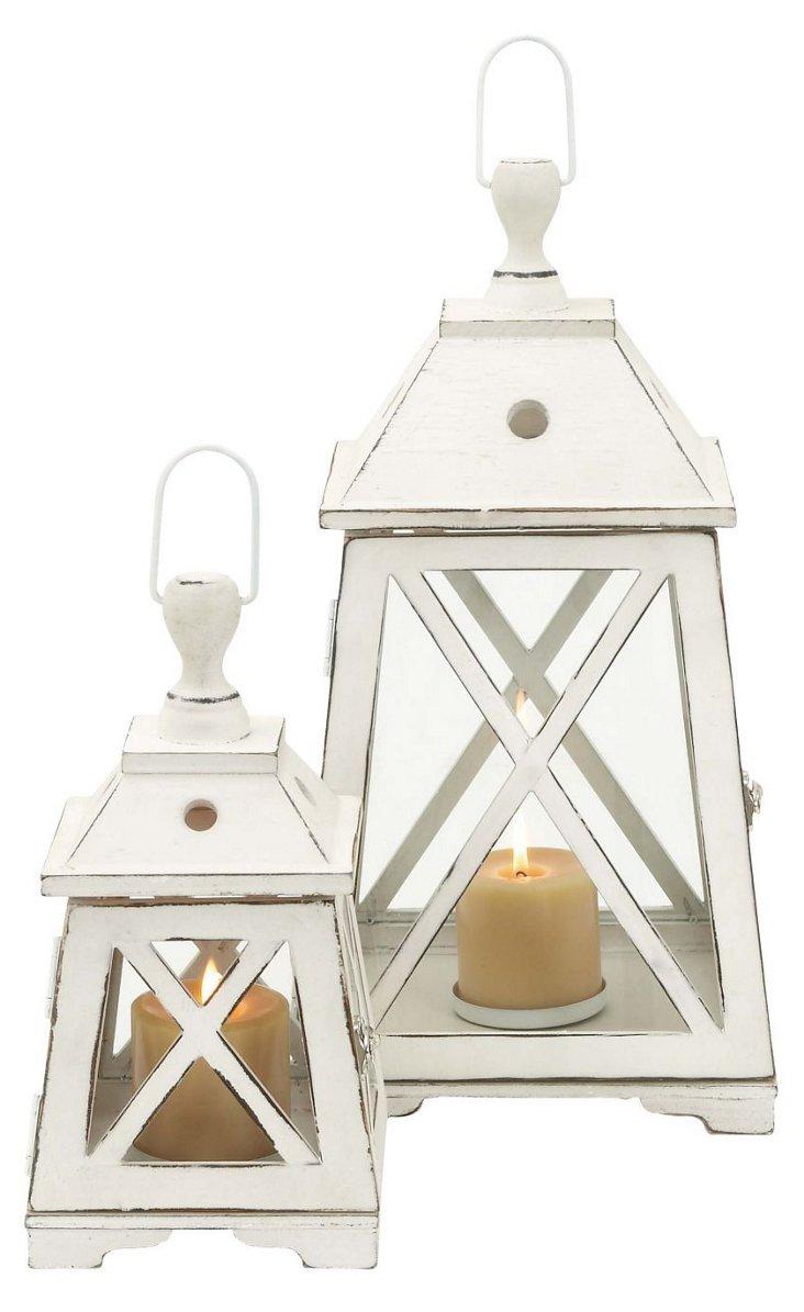 Wooden Lanterns, Asst. of 2