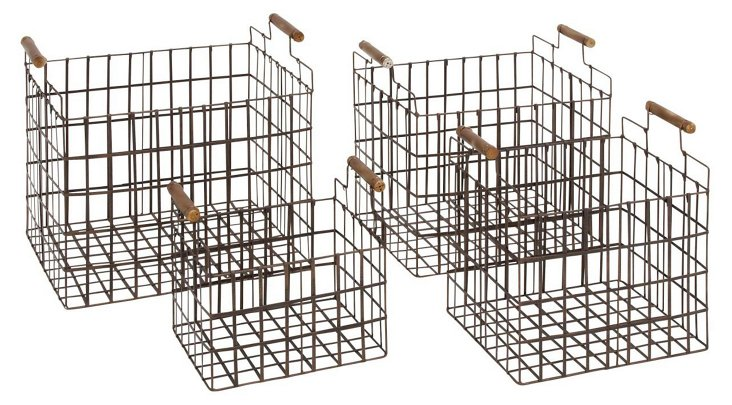 S/4 Square Industrial Baskets