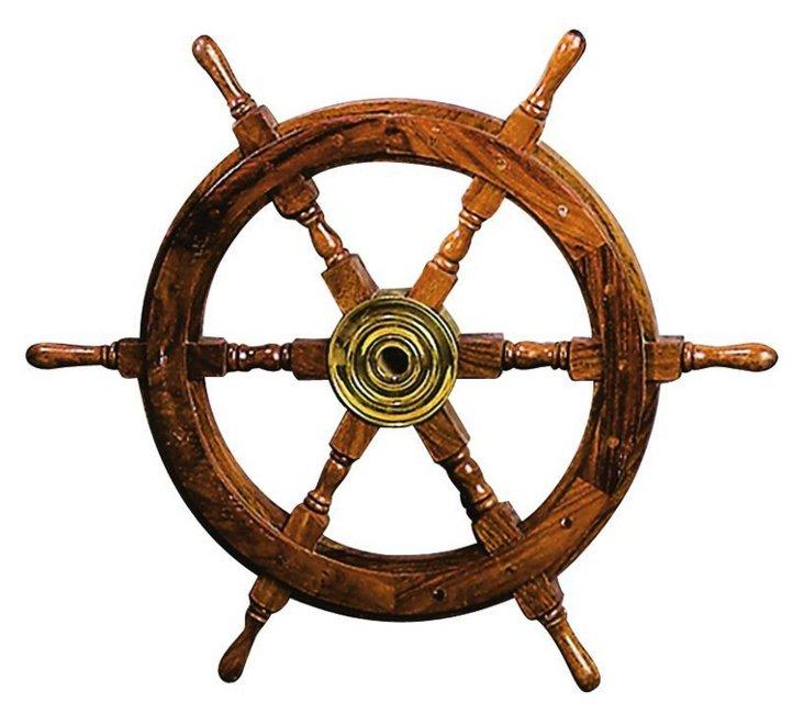 "25"" Wood Ship Wheel"