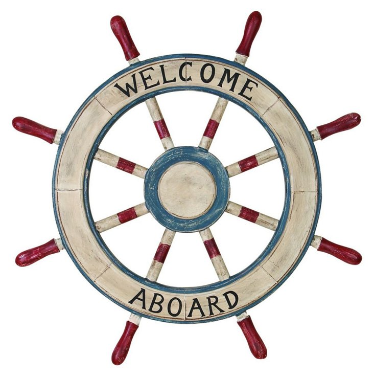 "23"" Wooden Welcome Wheel"