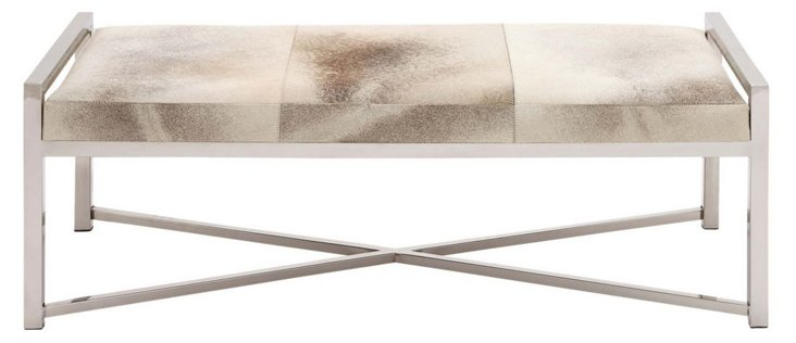 Naari Leather Bench
