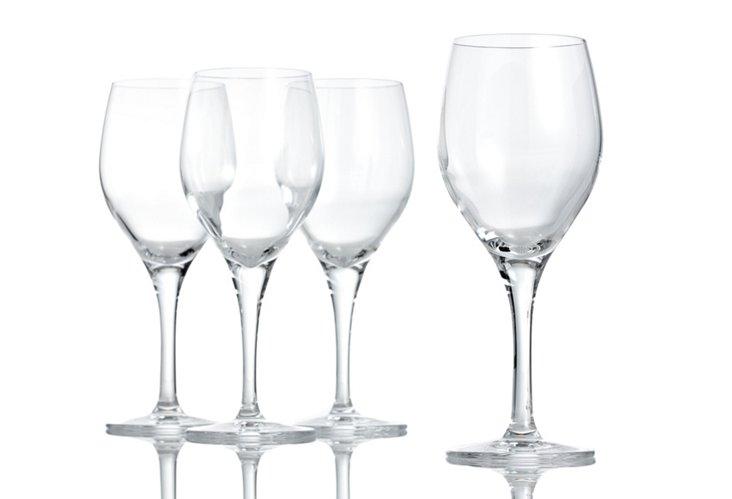 Set of 4 White-Wine Glasses