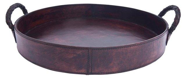 Round Tray, Cognac