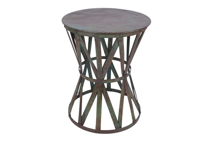 Rustic Side Table, Iron