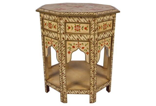 Exotic Floral Side Table