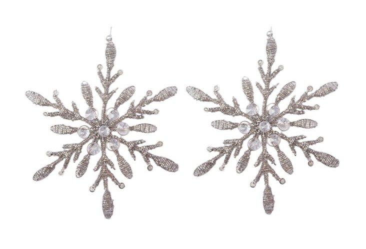 Set of 2 Snowflake Ornaments
