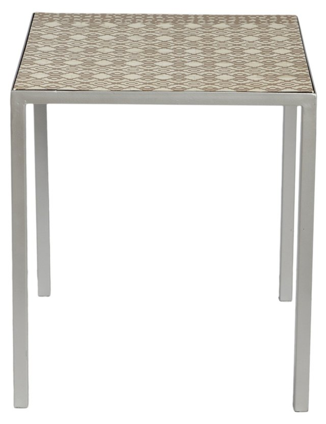 Delilah Square Table, Brown/Cream