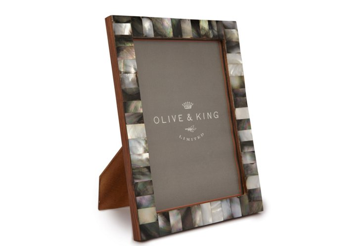 5x7 Mother of Pearl Frame, Black