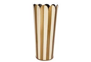 Round Umbrella Stand, Cream/Gold