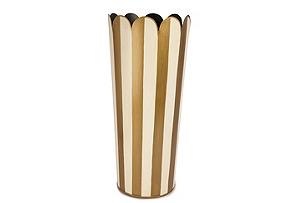 Round Umbrella Stand, Cream/Gold
