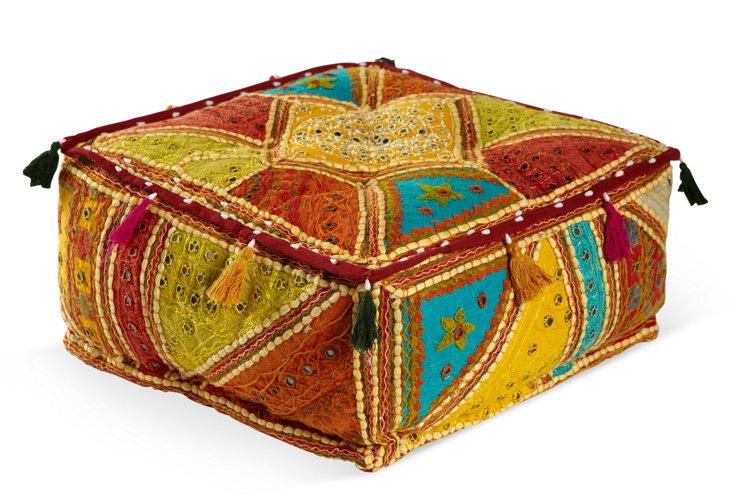 """16"""" Square Floor Cushion, Multi"""