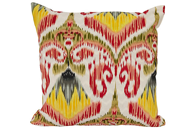 18x18 Reversible Pillow, Pink/Green