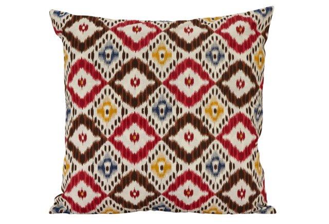 18x18 Reversible Pillow, Pink/Yellow