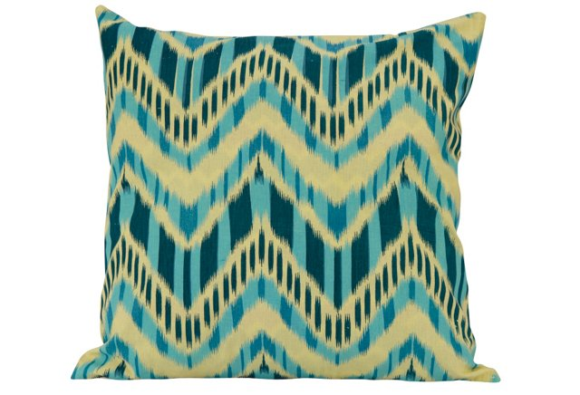 18x18 Reversible Pillow, Teal/Green