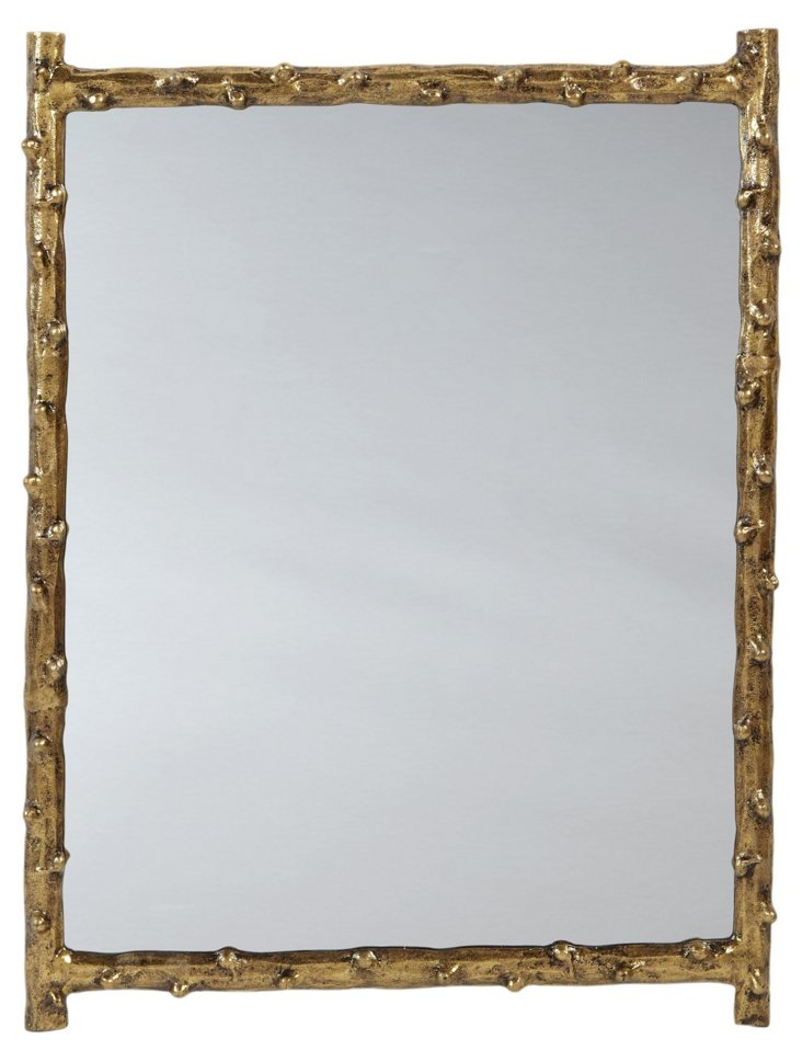 Twig Design Wall Mirror, Gold