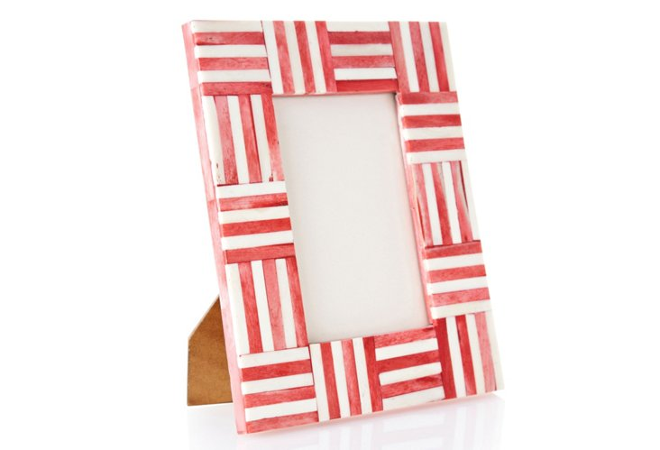 Bone & Horn Frame, Red, 4x6