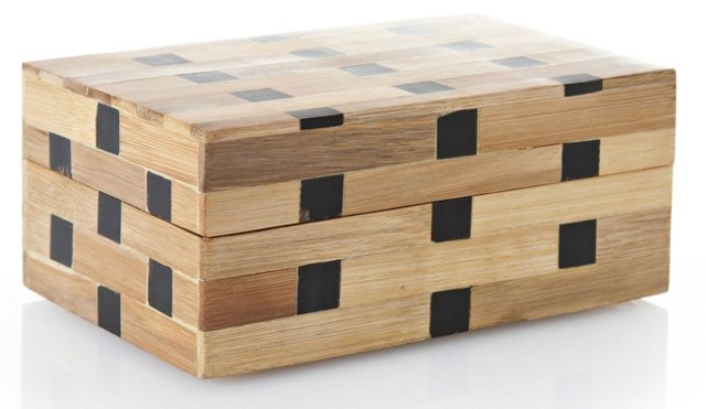 Bamboo Box with Horn Squares