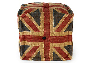 Square Pouf, Union Jack
