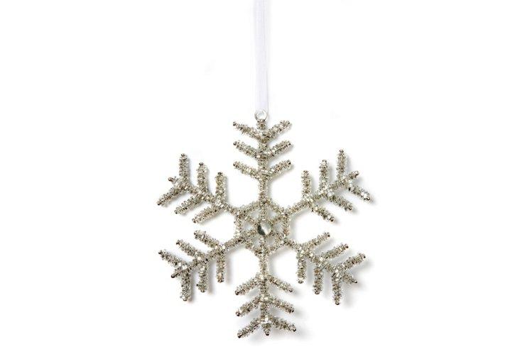 Set of 2 Silver Snowflakes, Star