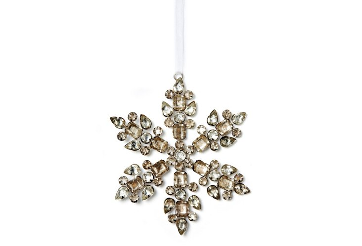 Set of 2 Silver Snowflakes, Vixen