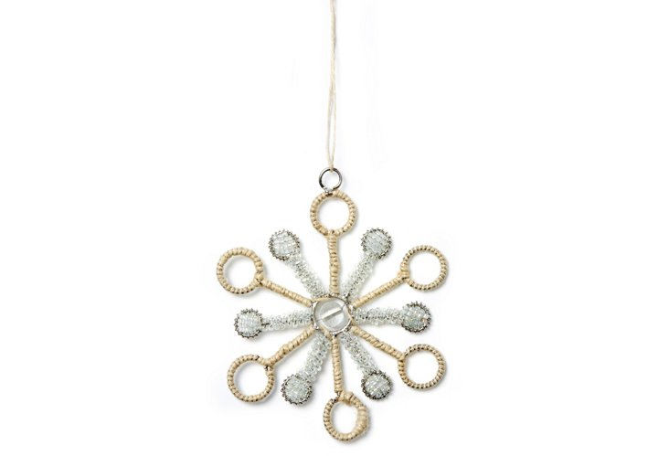 S/4 Snowflakes w/ Thread Work, Tidings