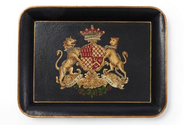 Coat of Arms Tray, Navy
