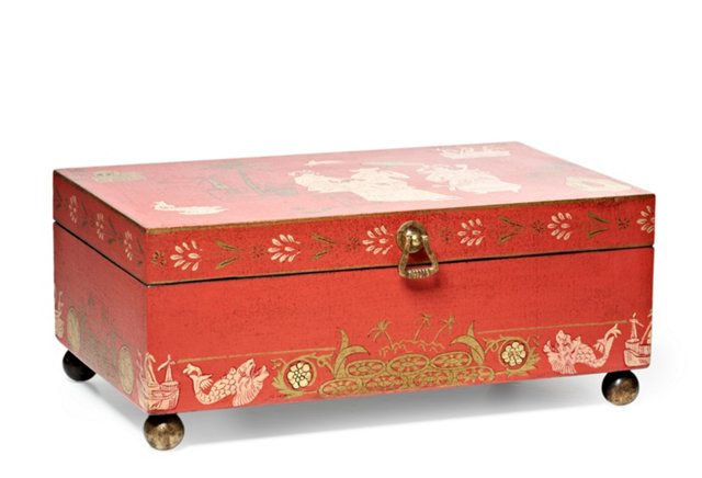 Chinoiserie Box, Coral