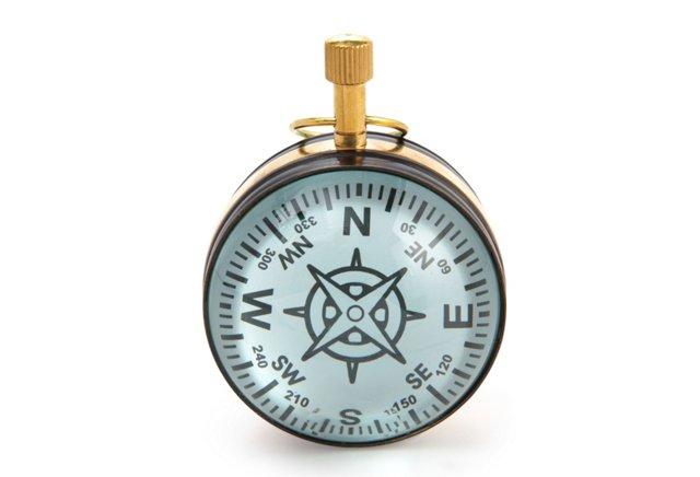 Compass/Clock Paperweight