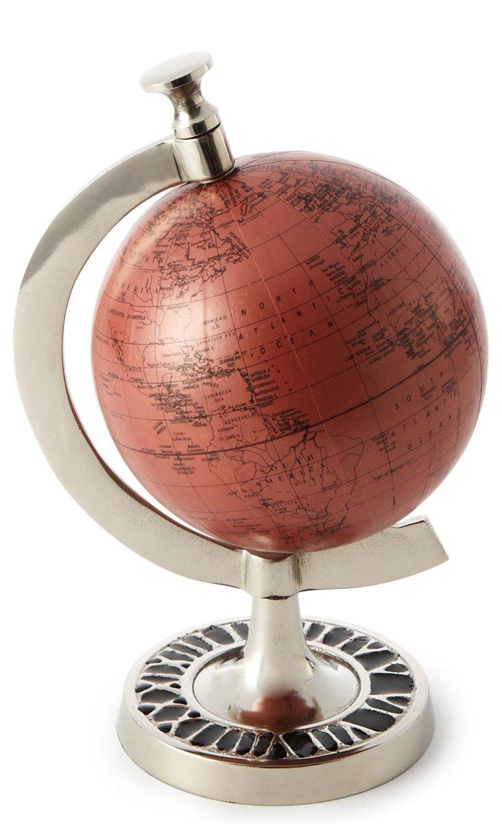 """9.5"""" Bone & Nickel Globe"""