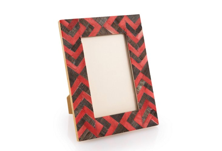 4 x 6 African Arrow Frame, Red/Natural