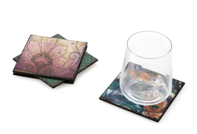 S/4 Assorted Coasters, Multi