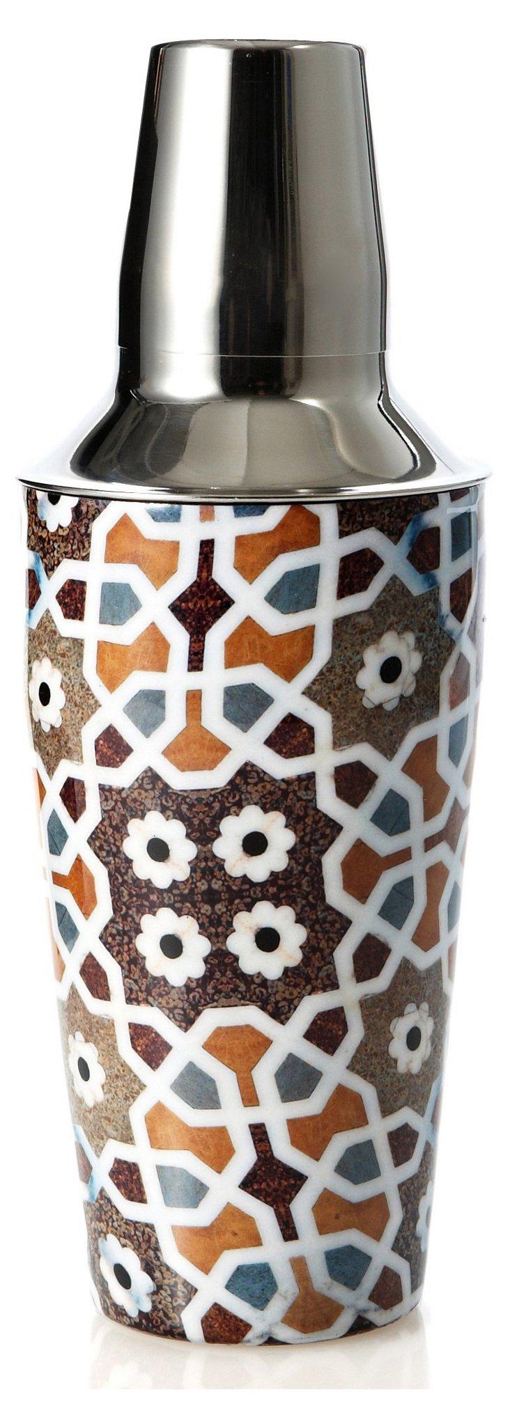 Tile-Patterned Cocktail Shaker