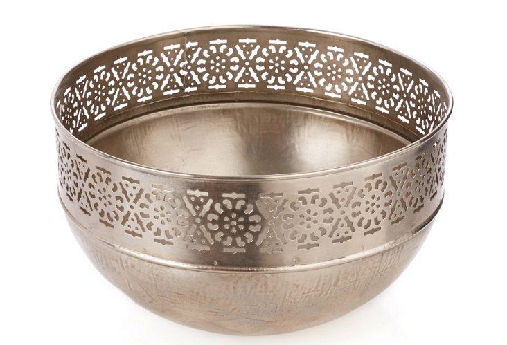 Iron Round Bowl with Cutwork