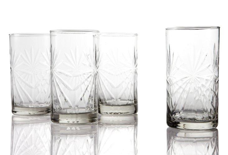 S/4 Highball Glasses, Firecracker