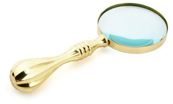 "10"" Magnifying Lens, Gold"