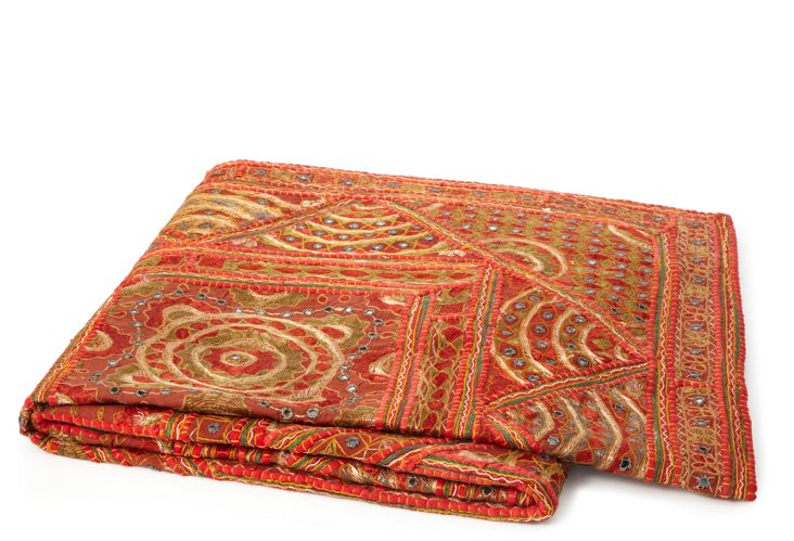 Moroccan Throw, Red/Orange