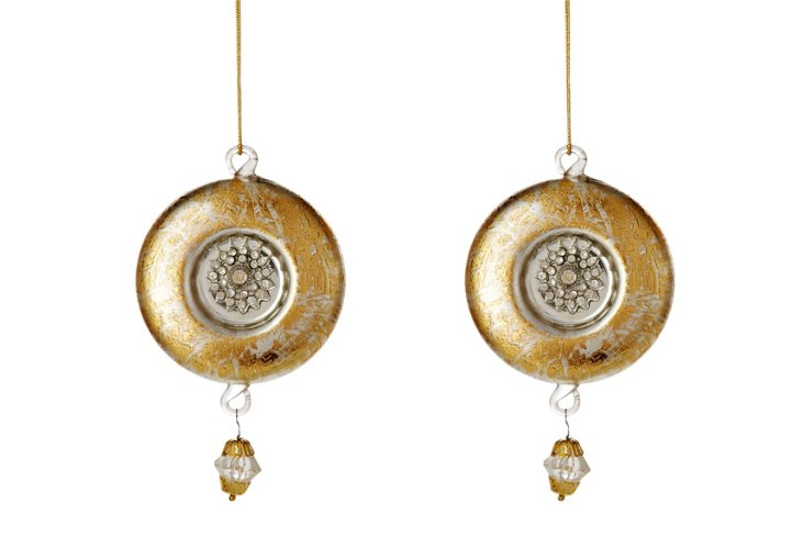 Set of 2 Ornaments, Garland