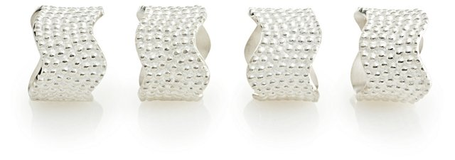 S/4 Dotted Napkin Rings
