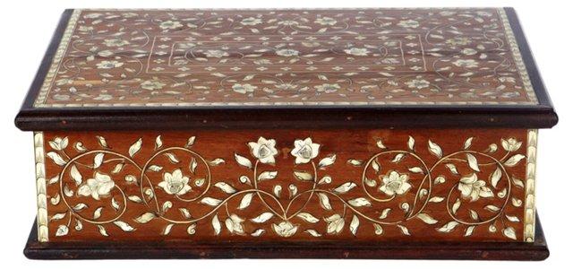 18x12 Verano Wood & Bone Painted Box