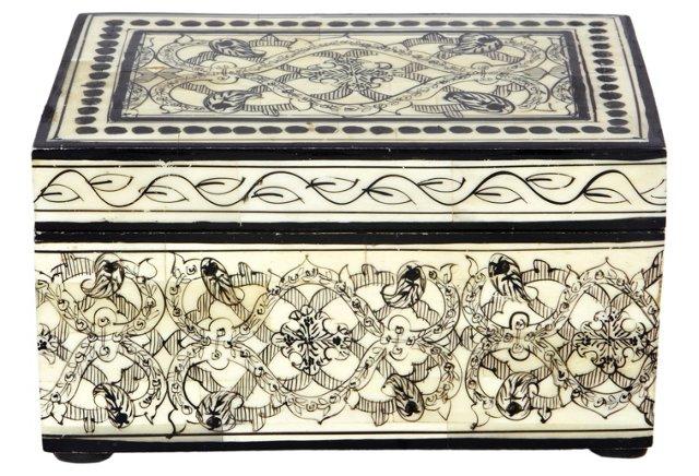 Chennai Bone and Wood Painted Box